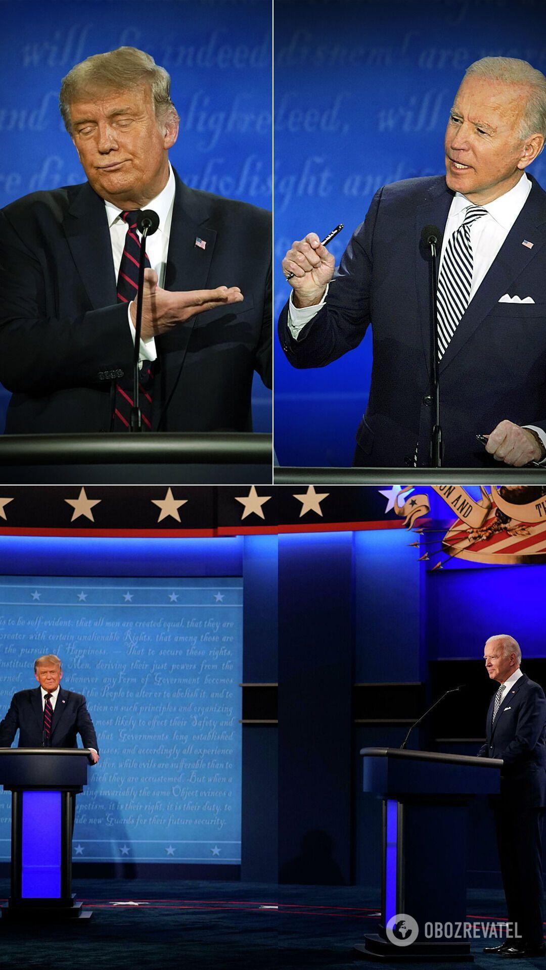 Дебаты Трампа и Байдена перед выборами президента США в 2020-м