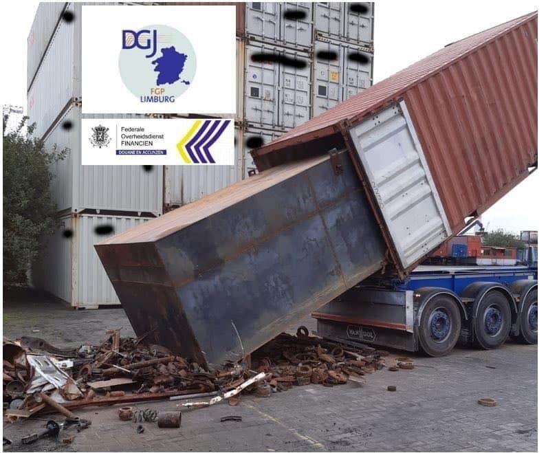 11,5 тонн кокаина спрятали в пяти грузовых контейнерах