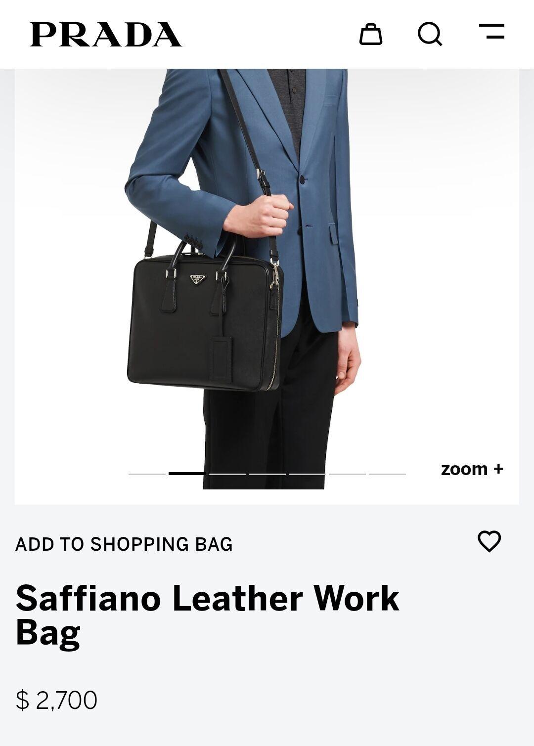 Скрин сайта Prada