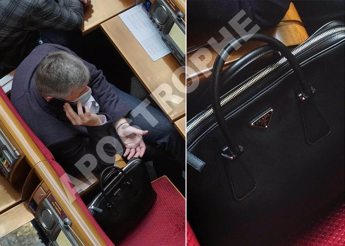 """""""Слуга"""" Остапенко носит сумку Prada"""