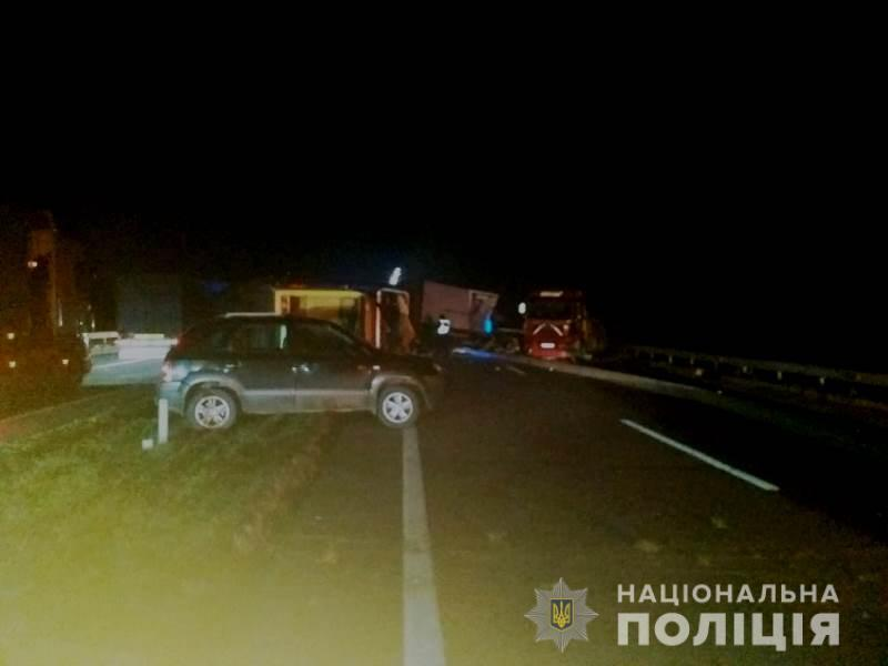 Последствия аварии на трассе Киев – Одесса.