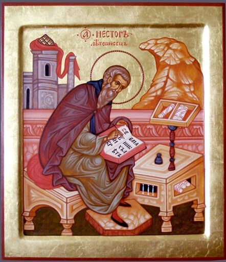 Преподобный Нестор Летописец был монахом Киево-Печерского монастыря