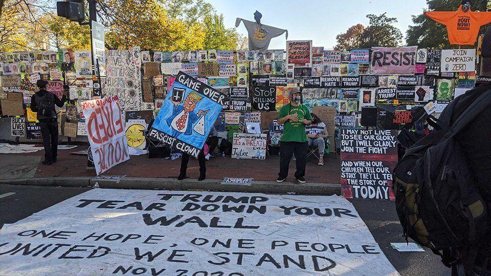 Акция протеста под Белым домом