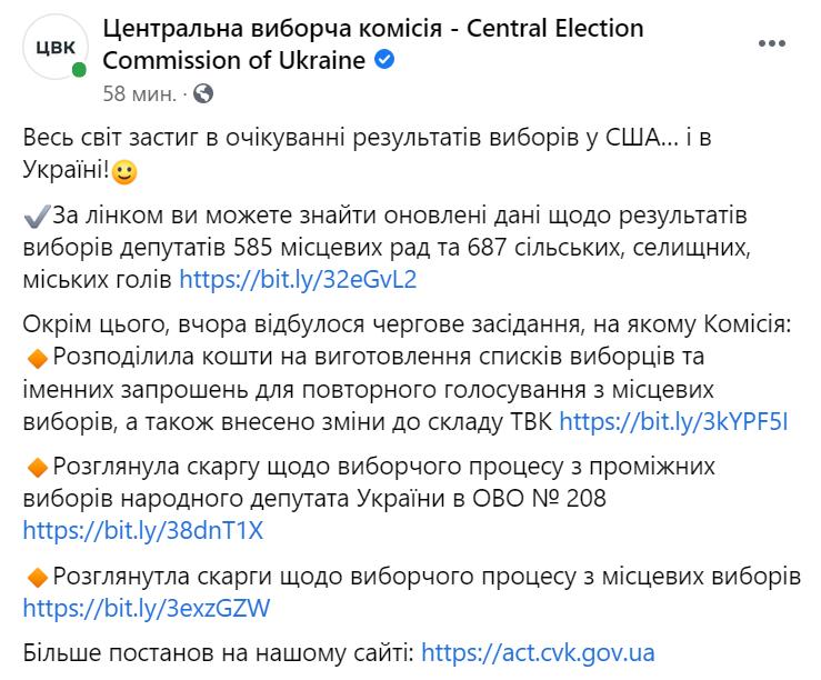 Результати місцевих виборів в Україні.