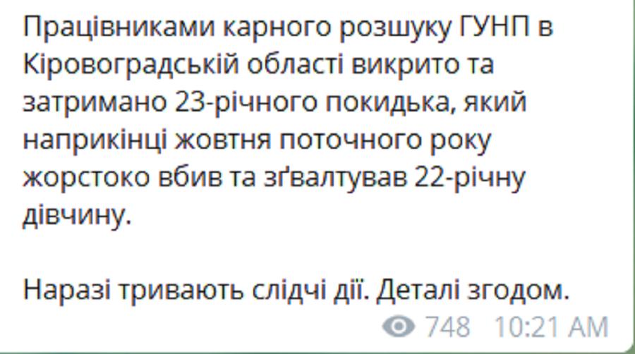 На Кировоградщине задержали насильника и убийцу