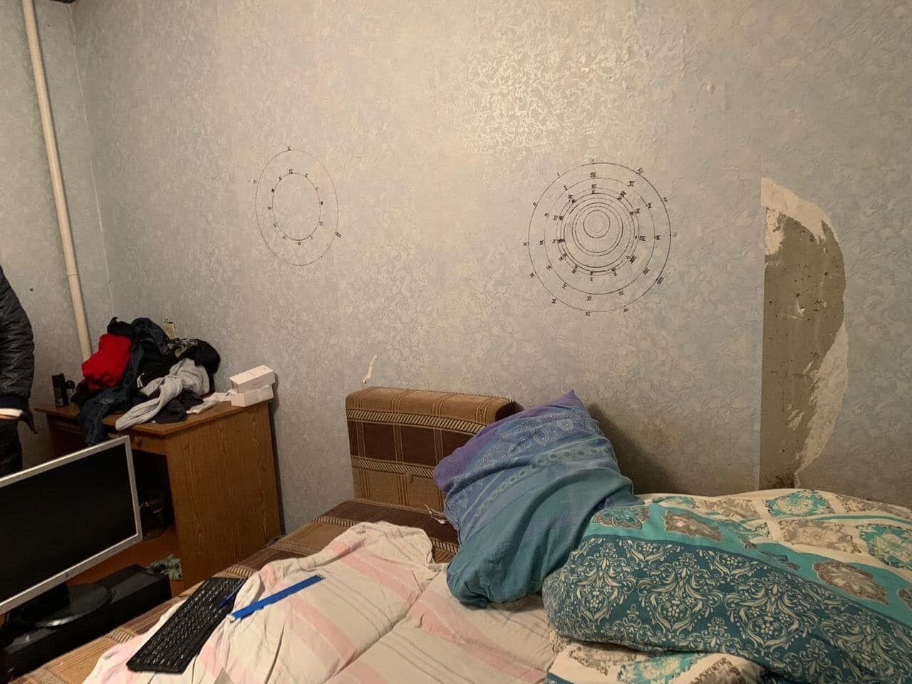 Мужчина, убивший людей в Кривом Роге, рисовал на стенах странные круги
