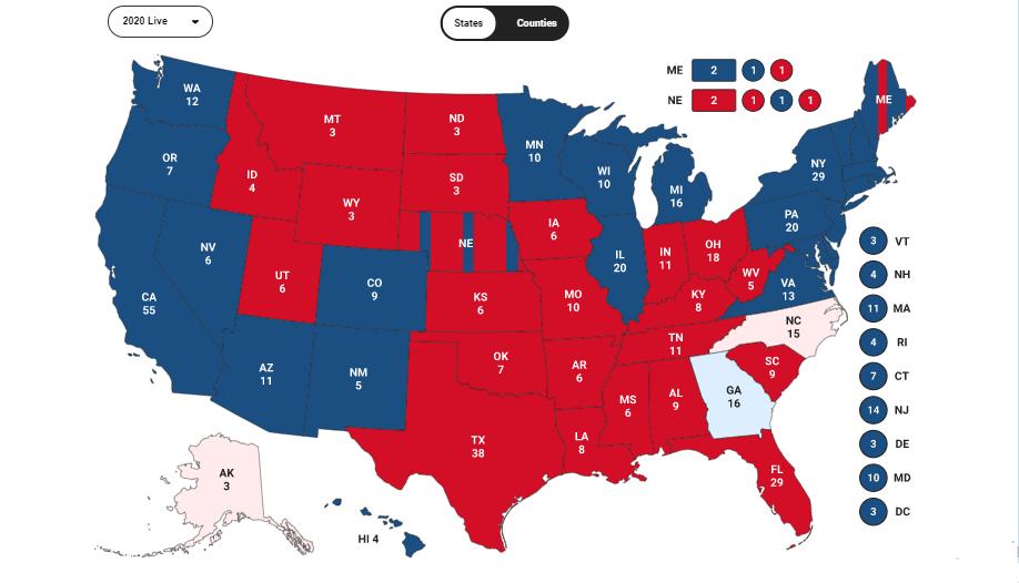 Голосование по Штатам