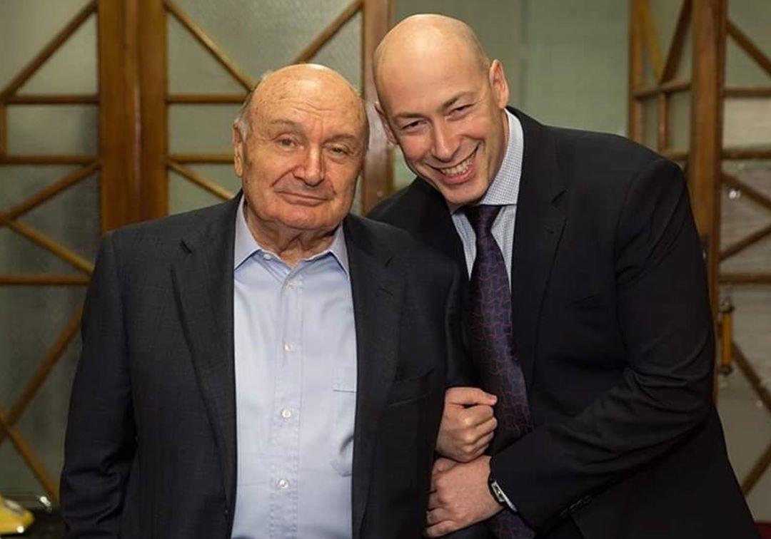 Архивное фото Дмитрия Гордона с Михаилом Жванецким.