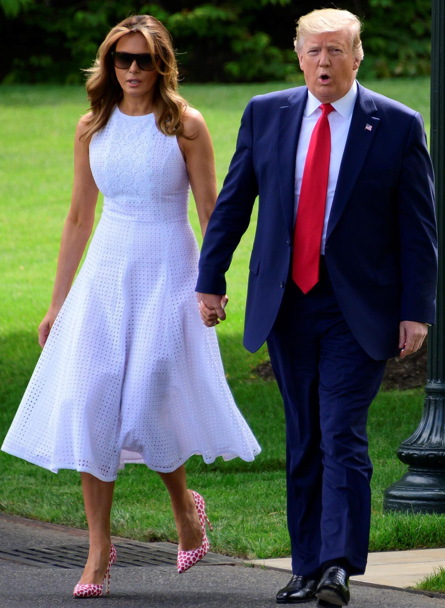 Мелания и Дональд Трамп.
