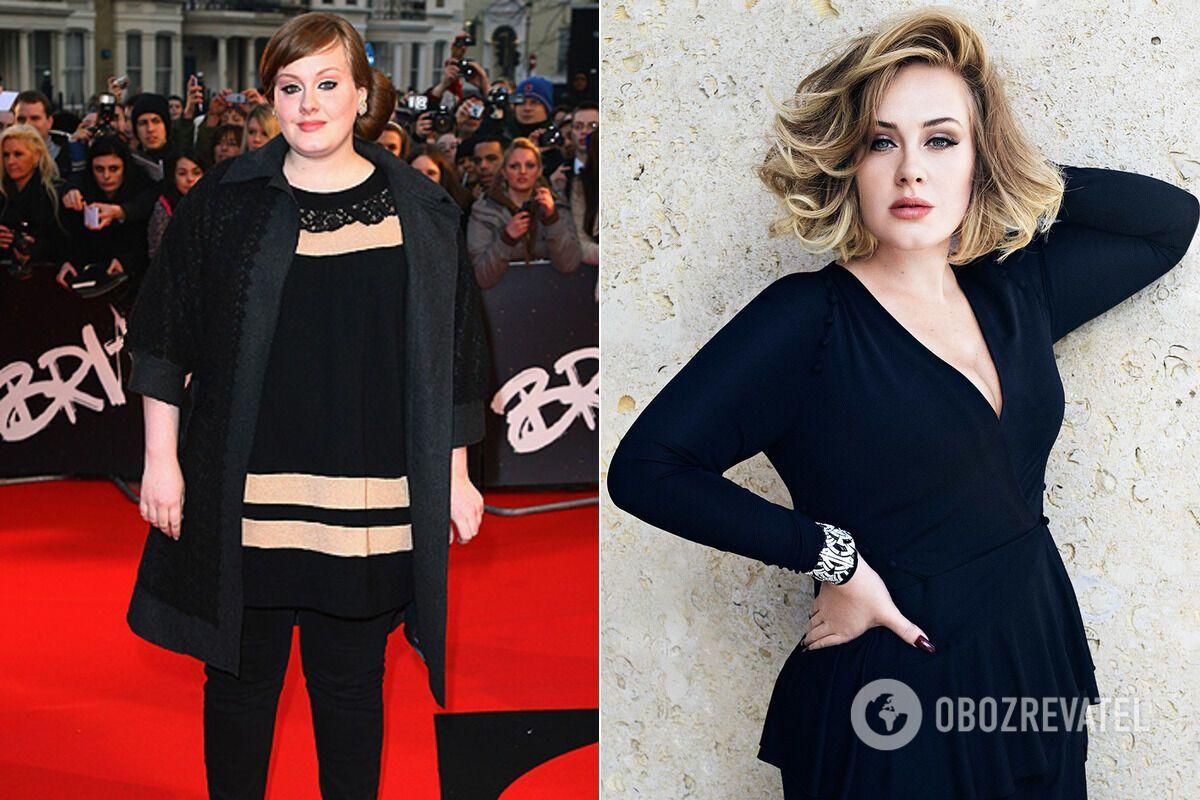 Adele до / после