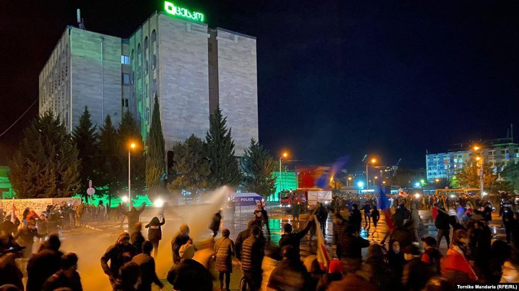 Разгон протеста в Тбилиси