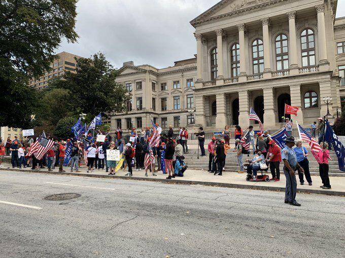 Акция протеста в Атланте
