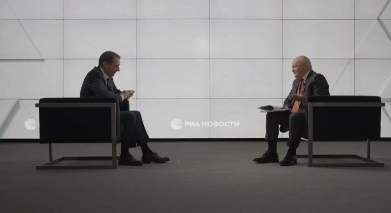 Наришкін дав інтерв'ю російському пропагандисту Дмитру Кисельову