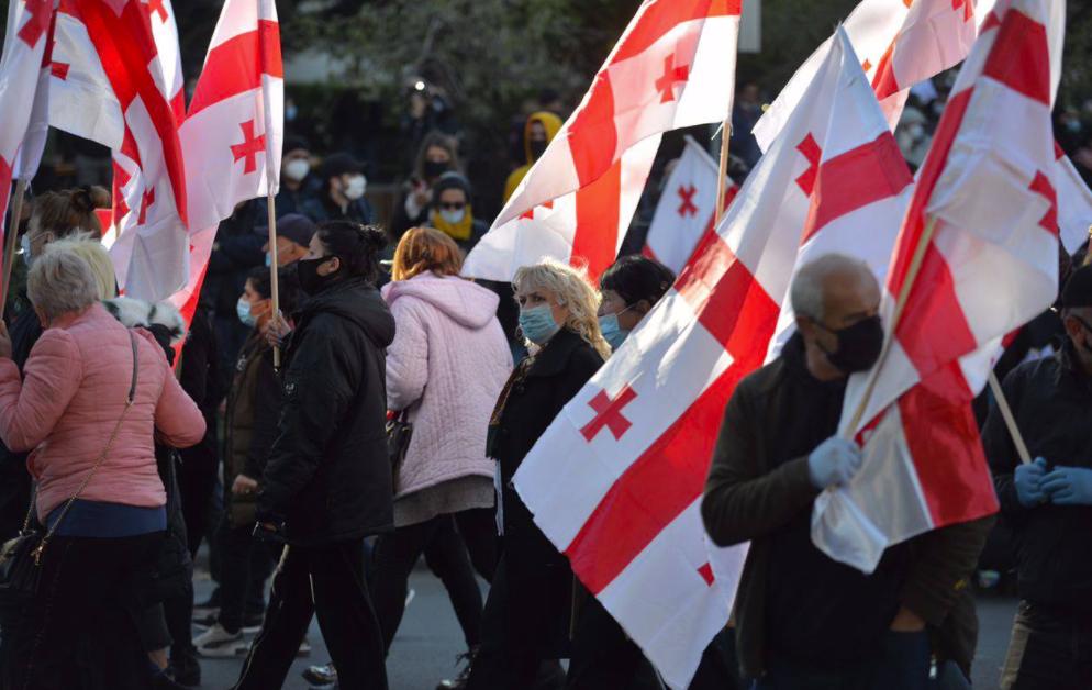 В Грузии состоялась акция сторонников оппозиции