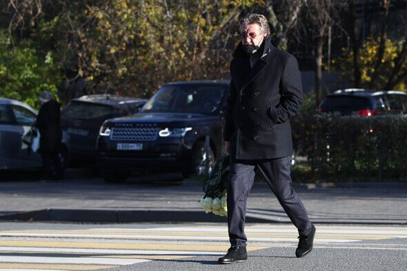 Леонид Ярмольник на похоронах Жванецкого