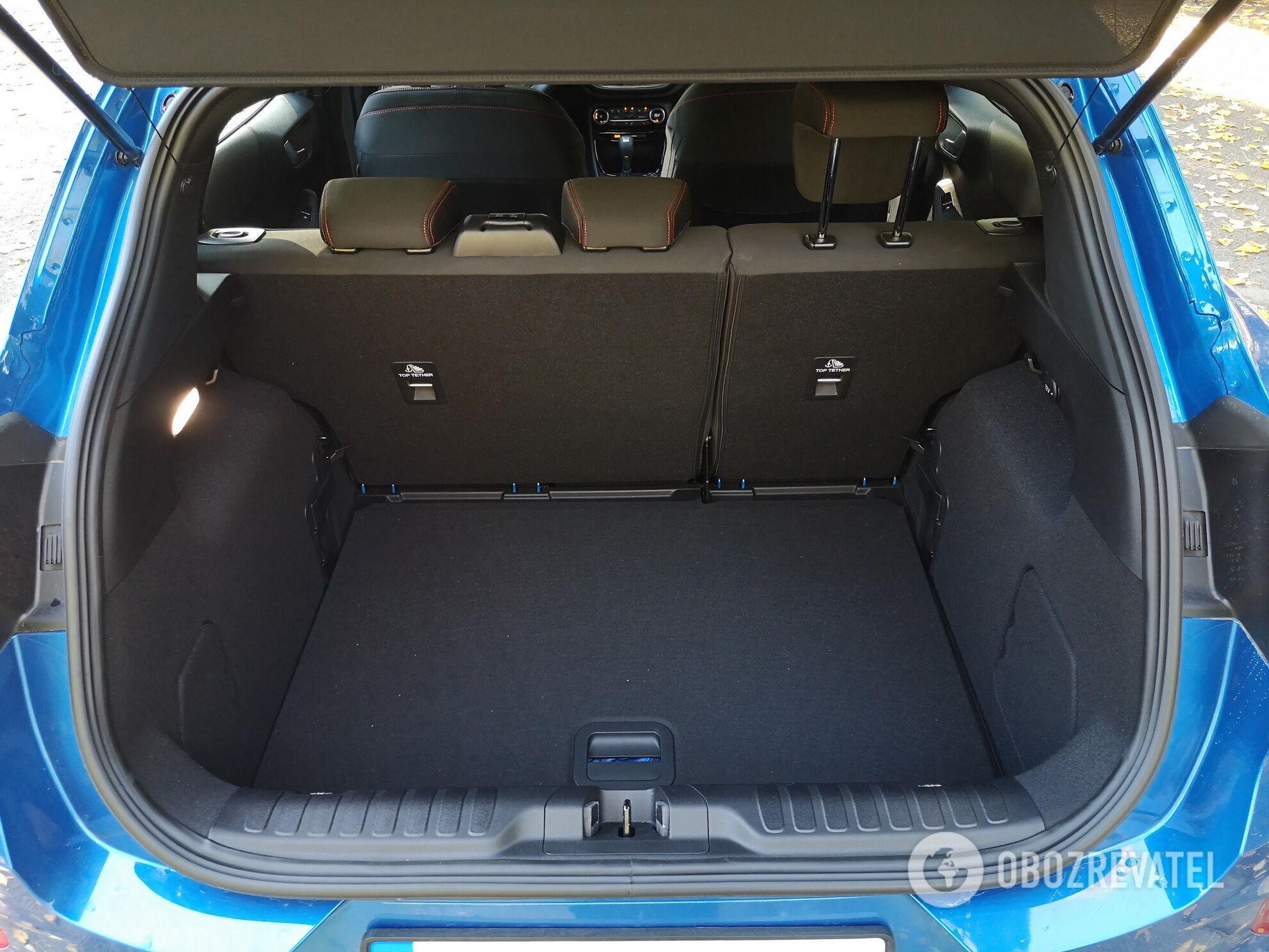 Ford Puma имеет вместительный багажник объемом 456 л