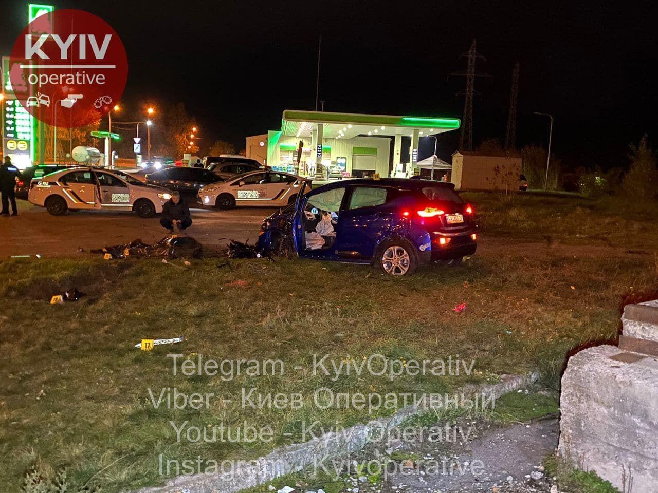 """Автомобіль зупинився в 10-15 метрах від АЗС """"ОККО"""""""