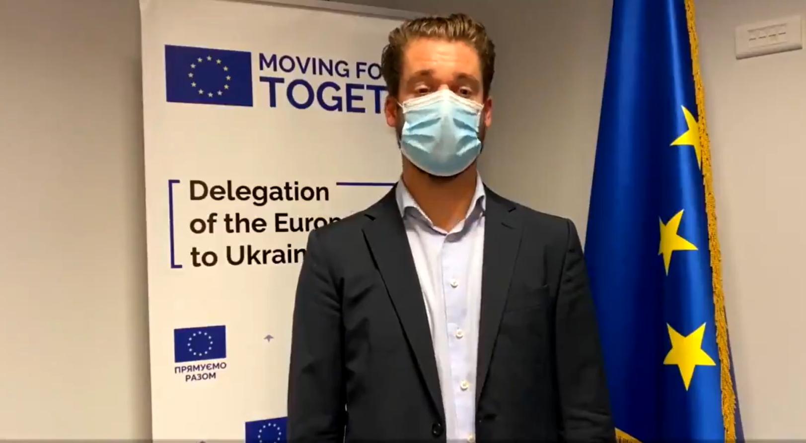 Співробітник представництва ЄС в Україні зачитав уривок українського вірша