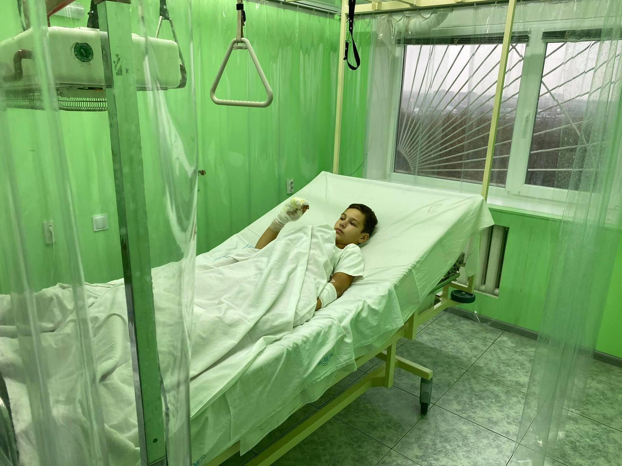 Пострадавший ребенок в больнице