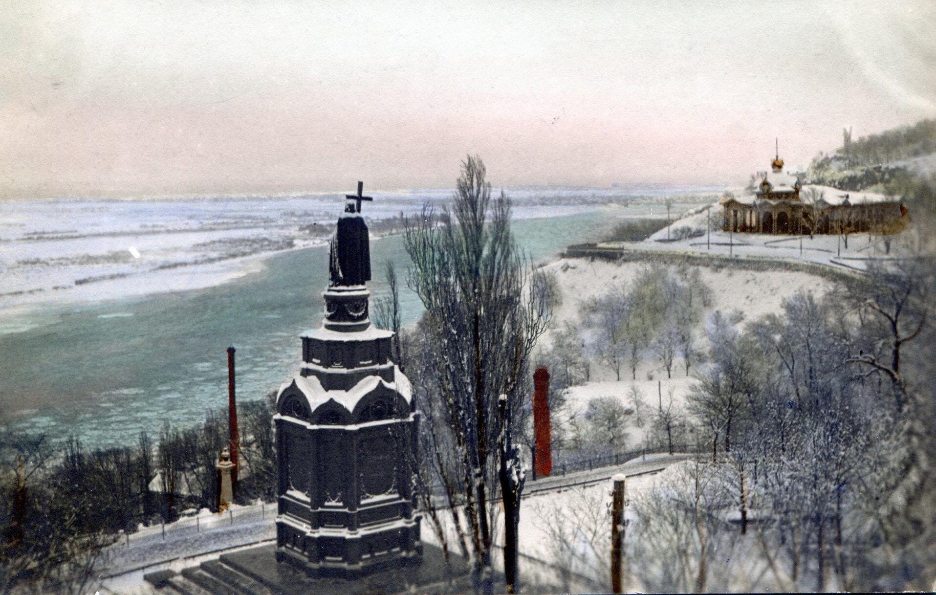 Вид з парку Володимирська Гірка на Дніпро та лівий берег