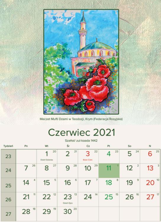 Одна зі сторінок польського календаря, де Кримський півострів назвали територією Росії
