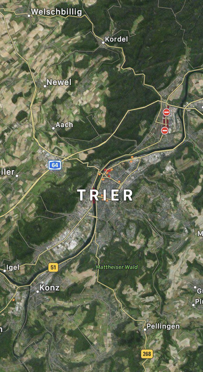 Місце події в Трірі