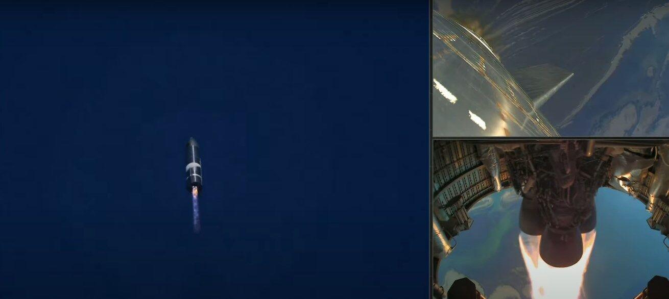 Полет Starship.