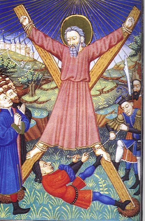 Андрей Первозванный был распят на кресте