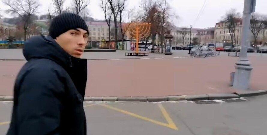 У Києві повалили ханукію на Контрактовій площі