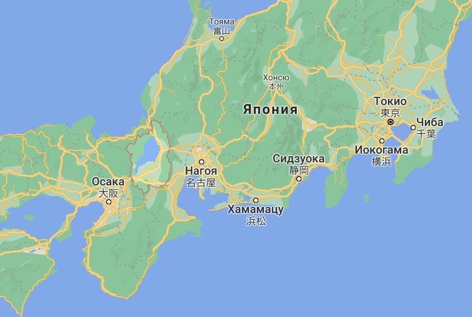 Префектура Сига в Японии.