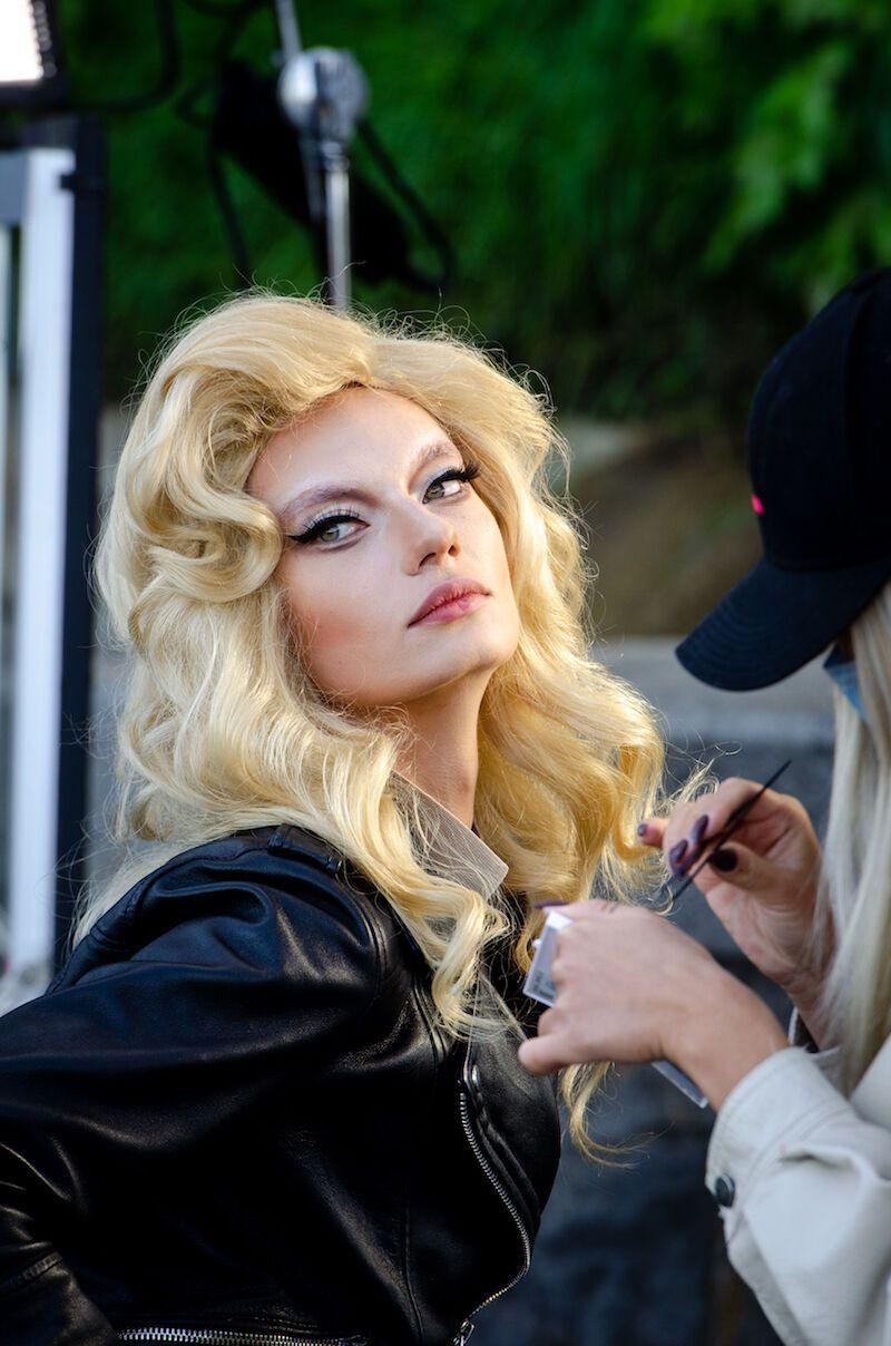 Таня Брик в образі Мадонни