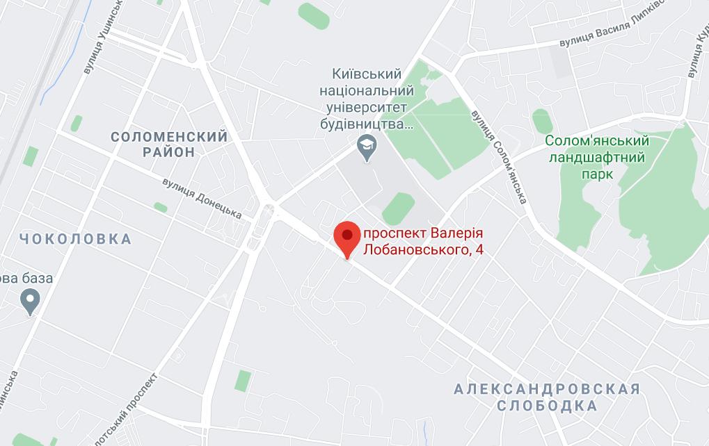 Проспект Валерия Лобановского 4 в Киеве.