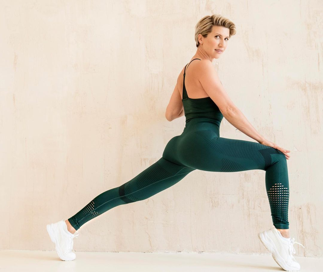 Анита Луценко занимается спортом.