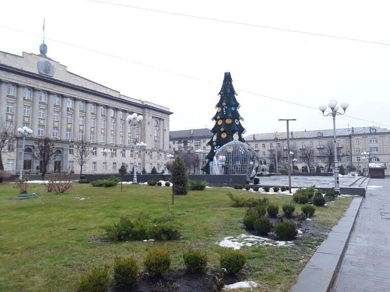 Новогоднее дерево в Черкассах