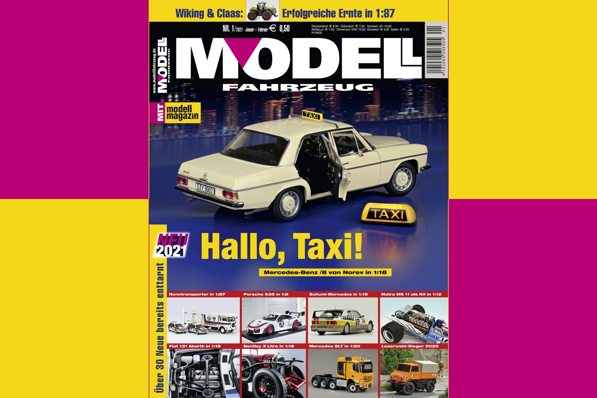 Обложка свежего номера Modell Fahrzeug с результатами конкурса