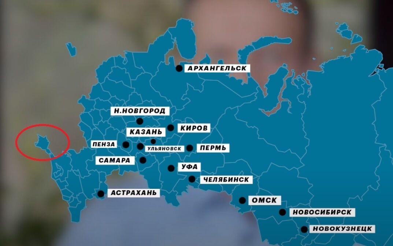 Карта РФ с оккупированным Крымом