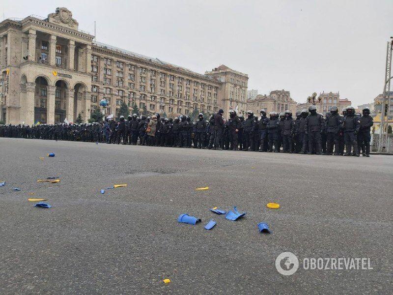 Полиция в центре Киева