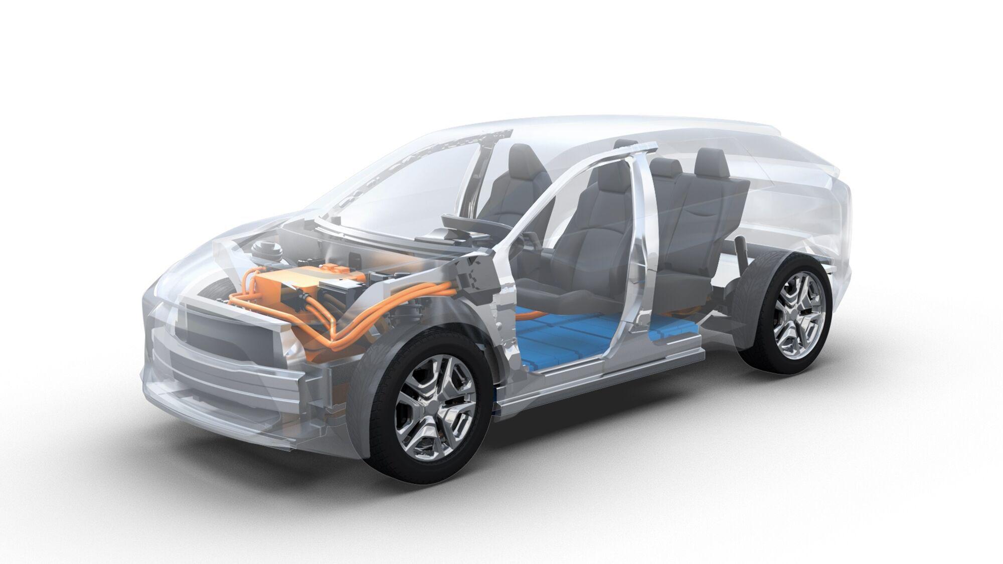 Перший серійний електричний кросовер Subaru буде використовувати модельну платформу e-TNGA компанії Toyota