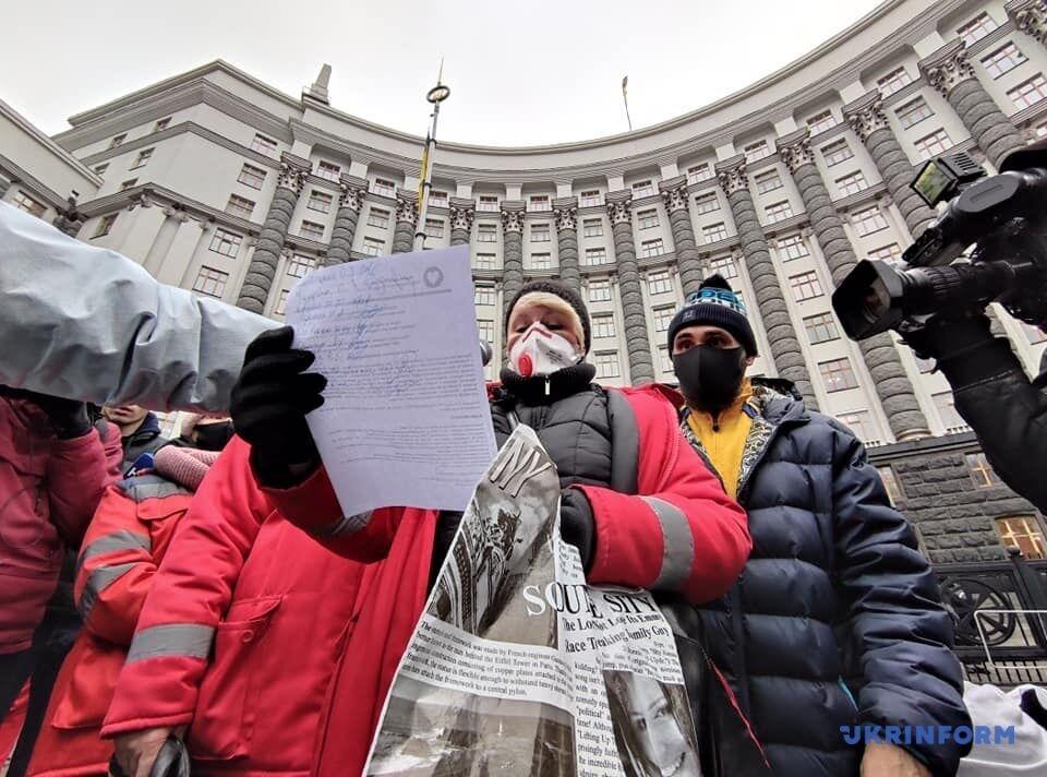 Акция протеста медработников
