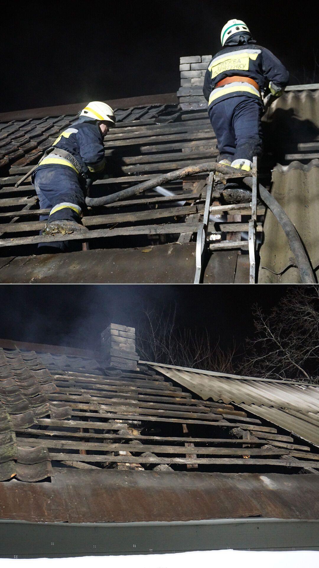 Площа пожежі становила 65 кв. м