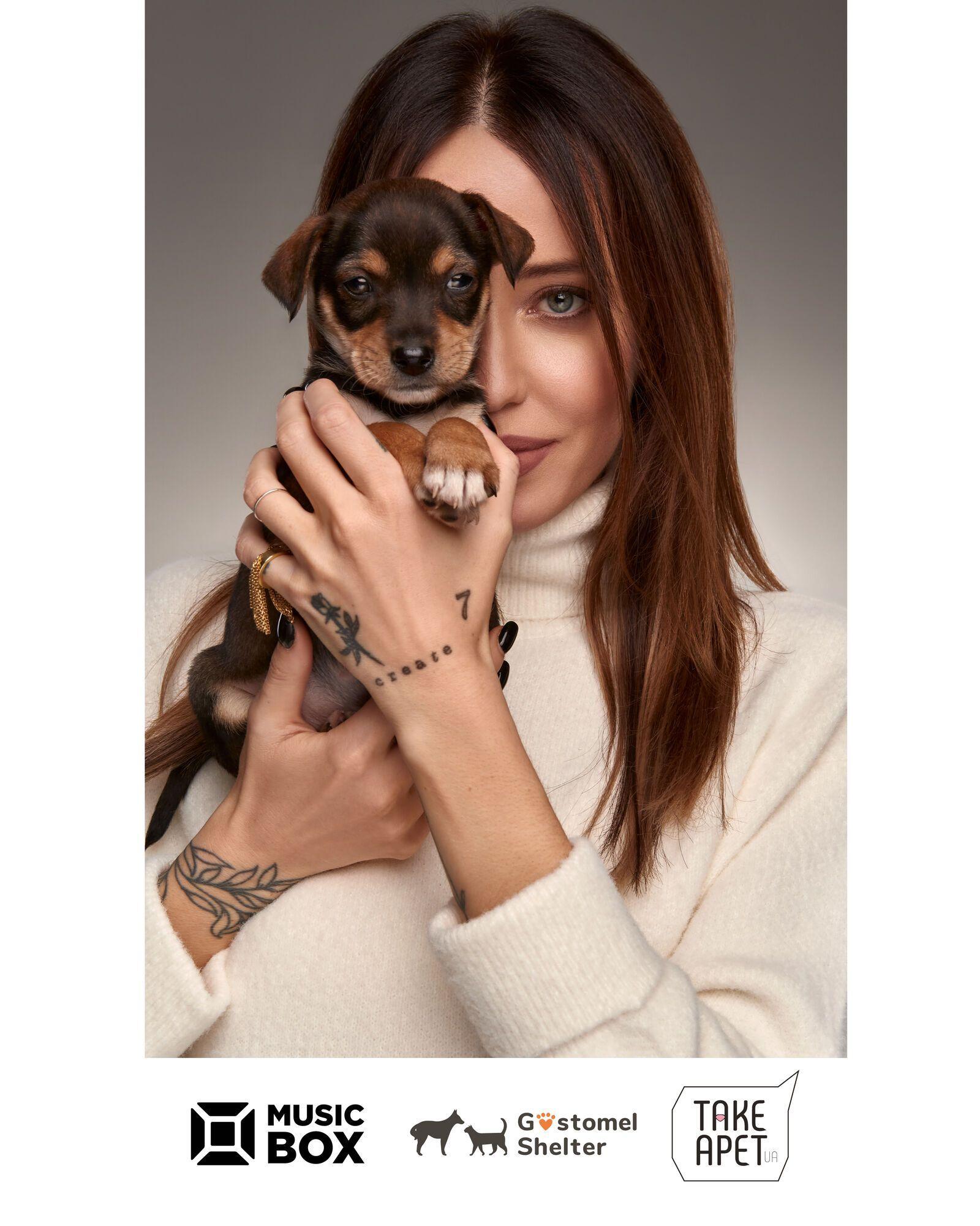 Надя Дорофеева снялась для календаря в поддержку бездомных животных