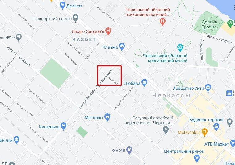 ДТП сталася на перехресті Грушевського і Гоголя.