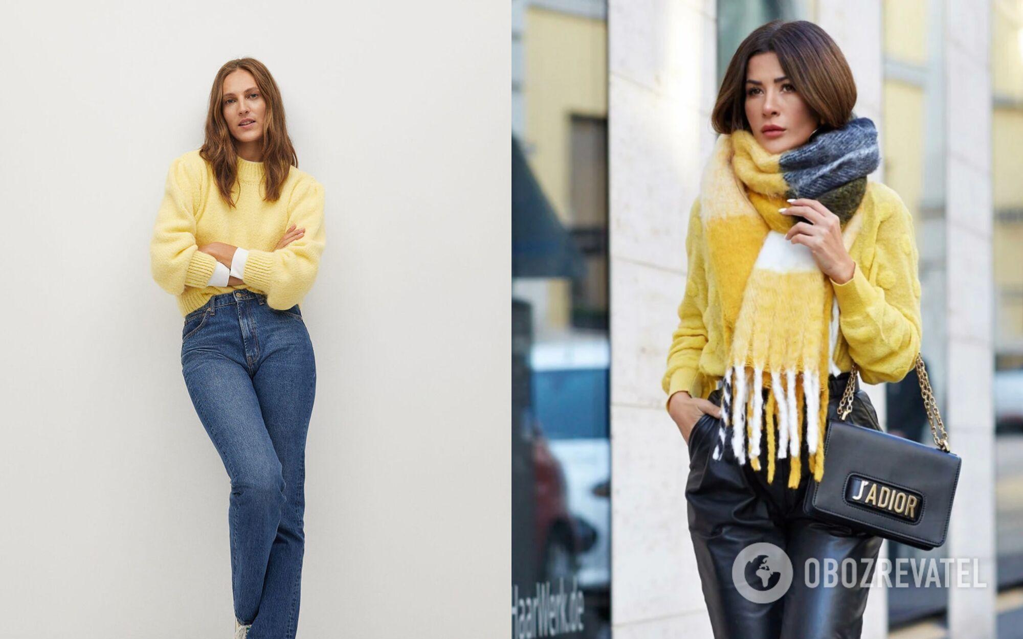 Повседневный образ со свитером и джинсами для 2021 года