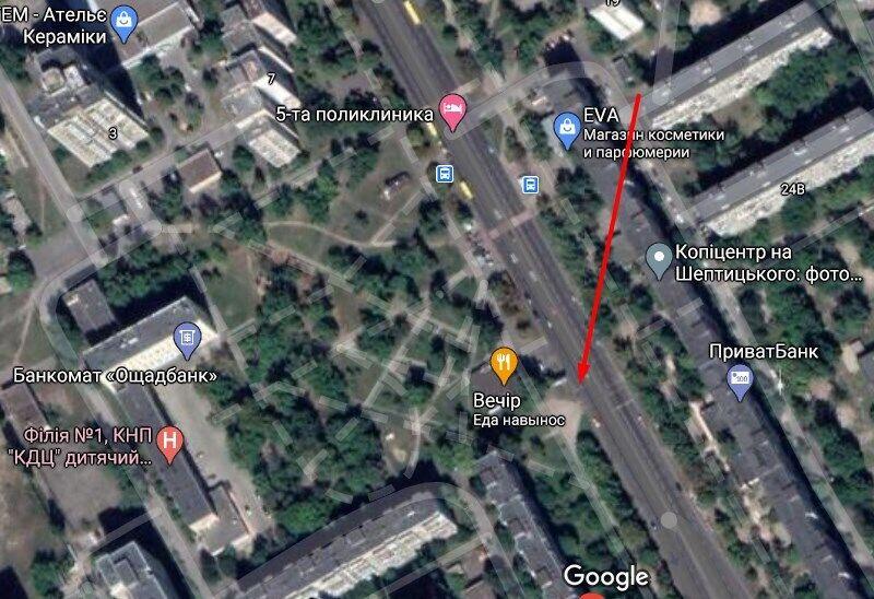 Напад стався на вул. Митрополита Андрія Шептицького в Києві
