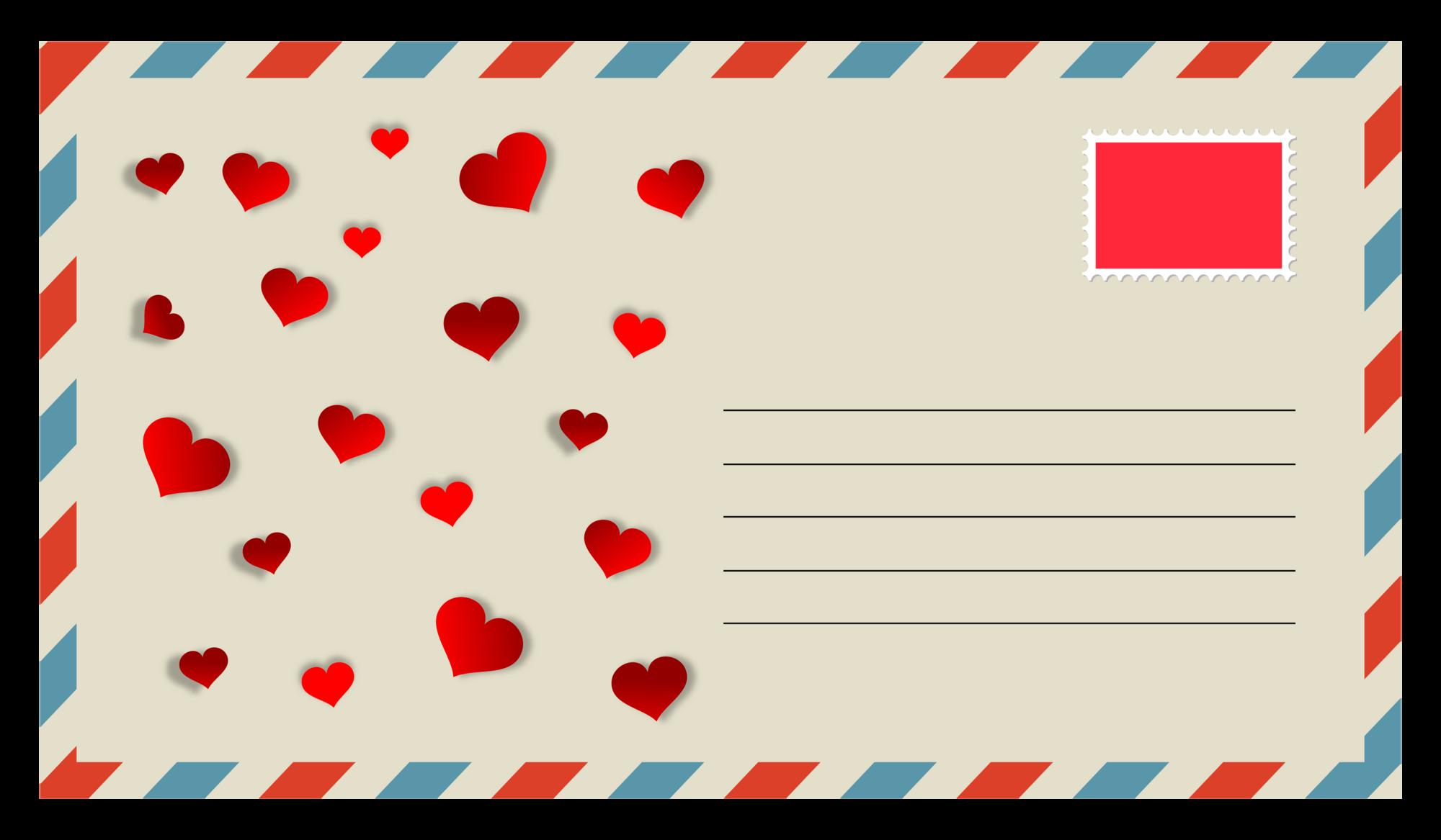 Шаблон святкового конверту
