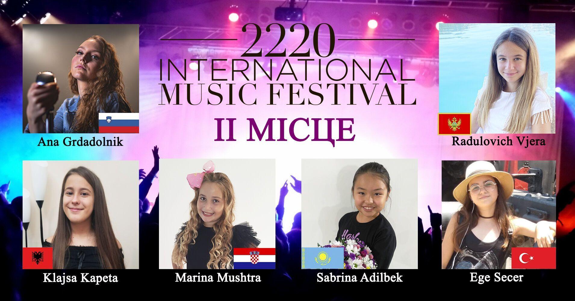 2220 International Music festival собрал 548 юных вокалистов из 14 стран