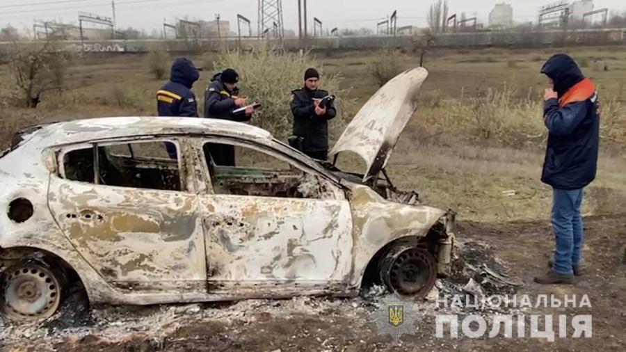Автівку зловмисники спалили