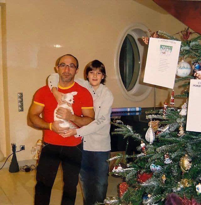 Геннадій Кернес із сином.
