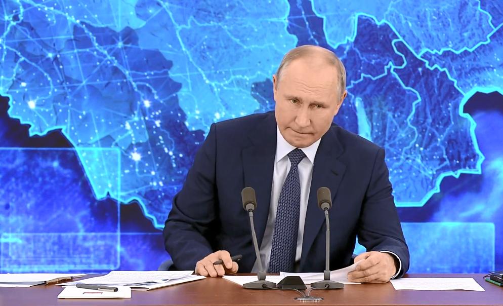 Володимир Путін звинуватив Україну у війні на Донбасі.