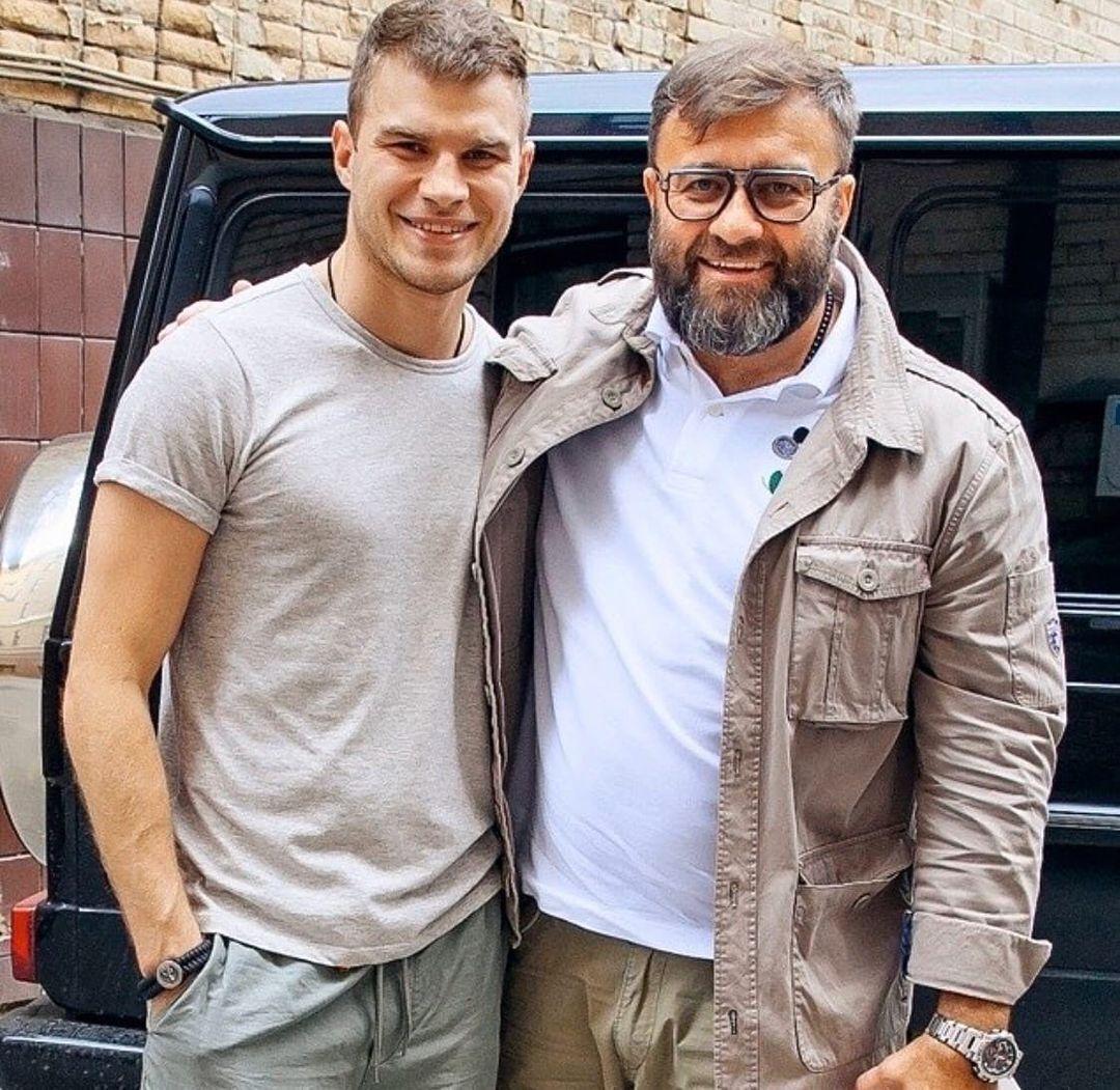Михайло Пореченков із позашлюбним сином Володимиром.